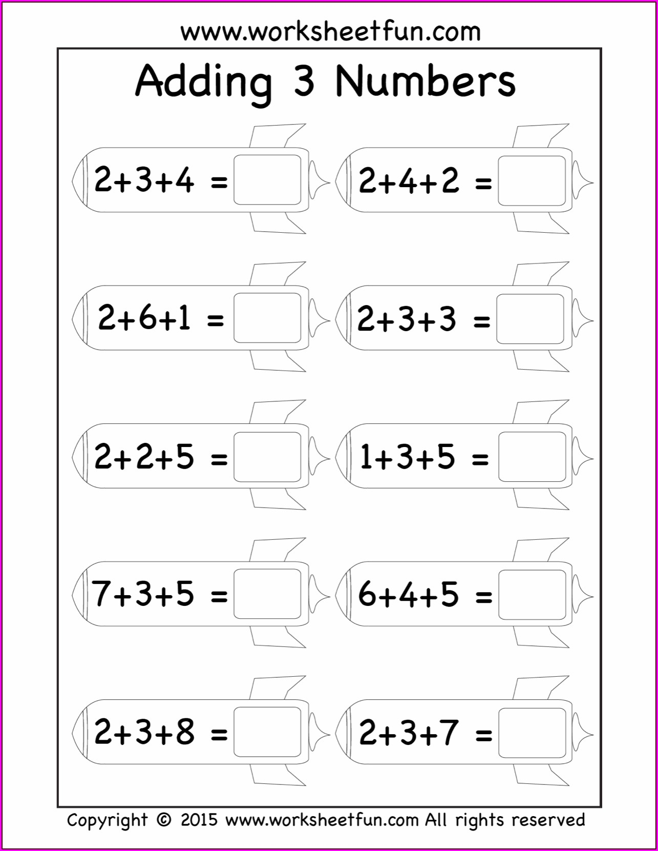 Ordering Three Numbers First Grade Worksheets