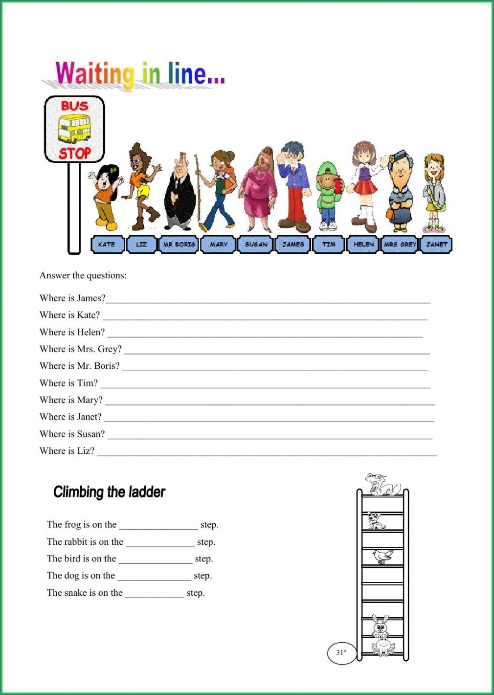 Ordinal Numbers Exercises Interactive
