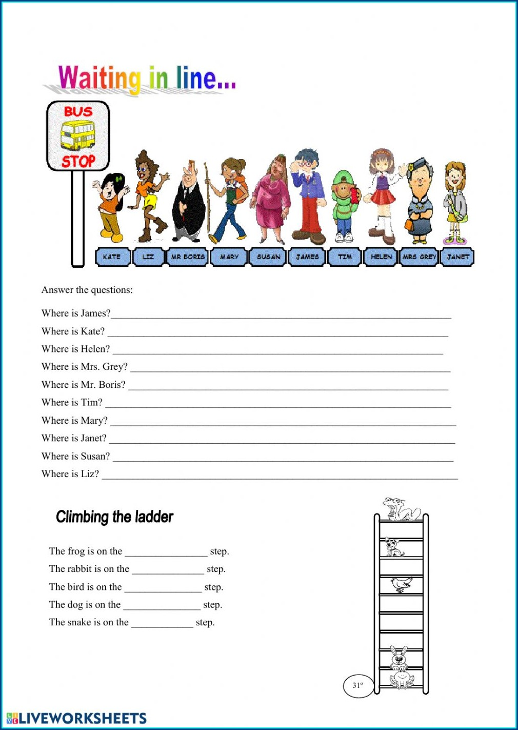 Ordinal Numbers Worksheet Esl Pdf