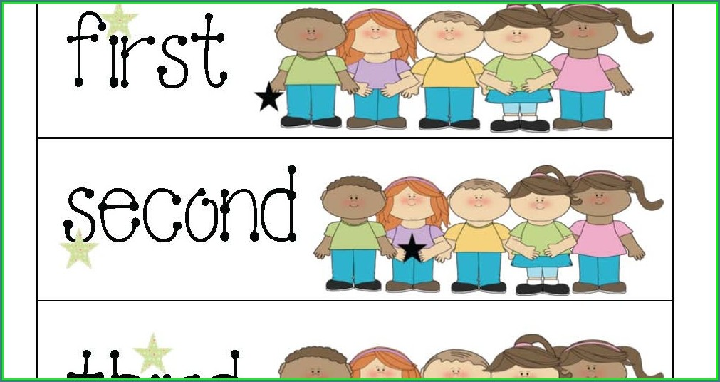 Ordinal Numbers Worksheet Grade 1 Pdf