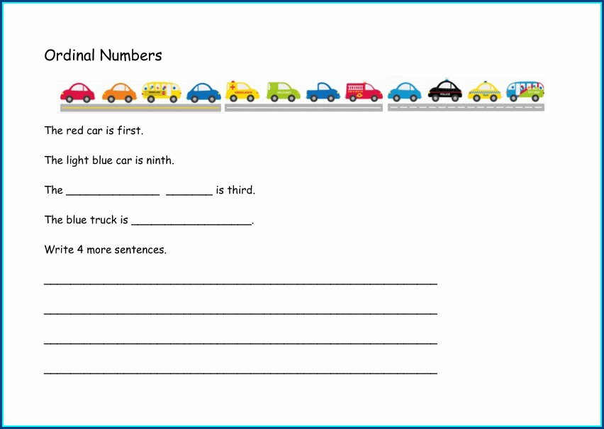 Ordinal Numbers Worksheets Ks1