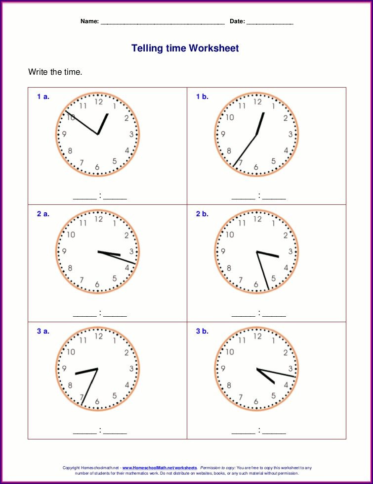 Pdf Year 3 Time Worksheets