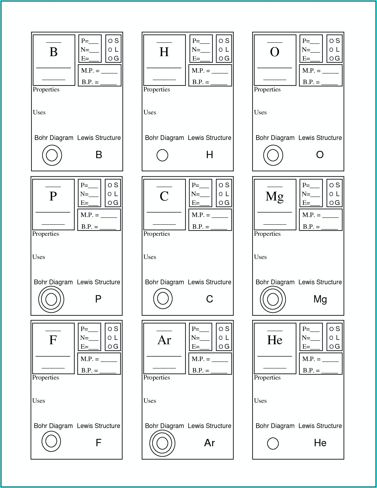 Periodic Table Basics B Worksheet Answers
