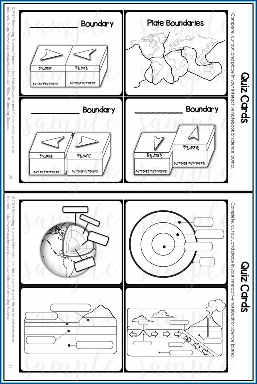 Plate Tectonics Worksheet 5th Grade