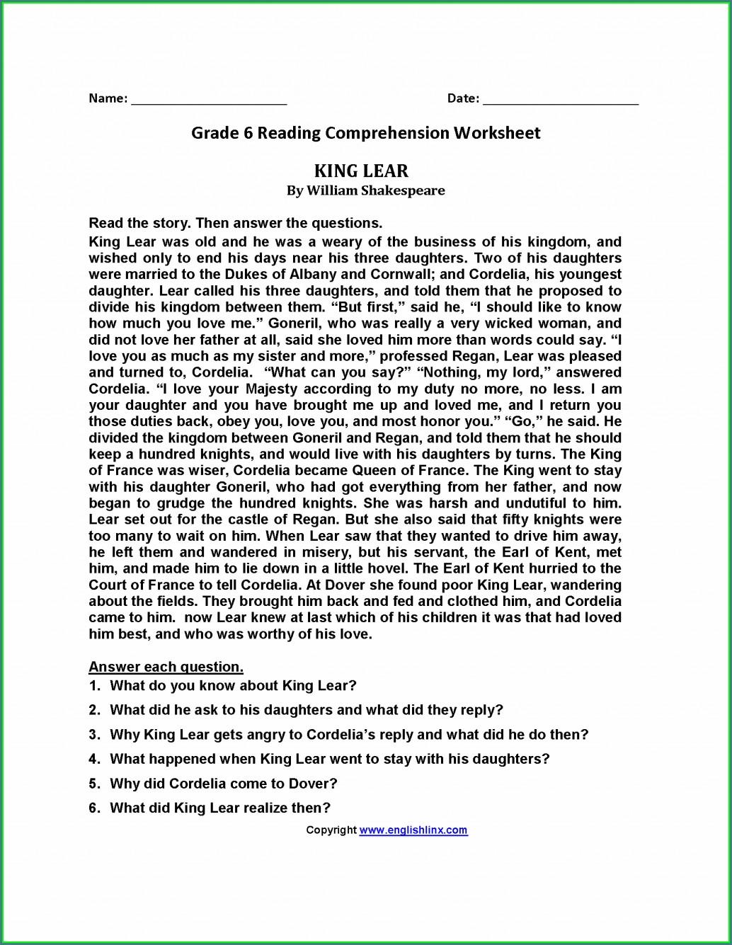 Poetry Worksheet Second Grade