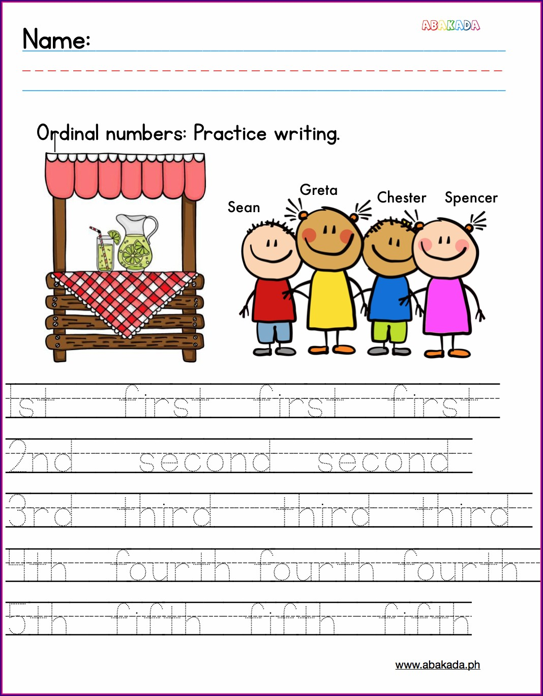 Practice 1st Grade Worksheets Writing