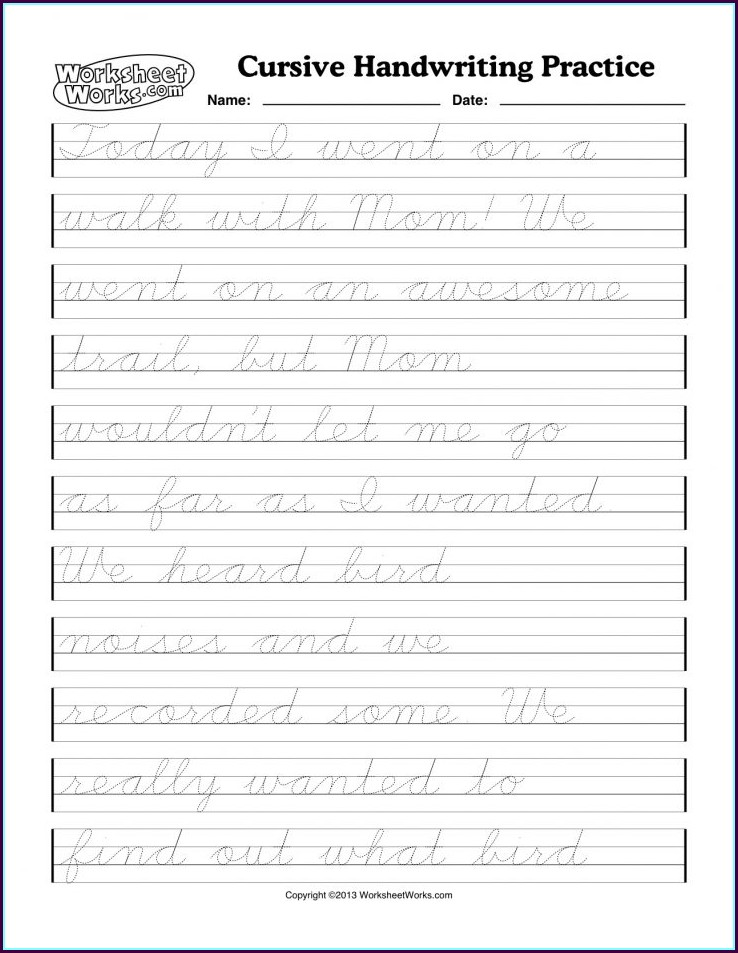 Practice Cursive Writing Worksheets For Adults Pdf