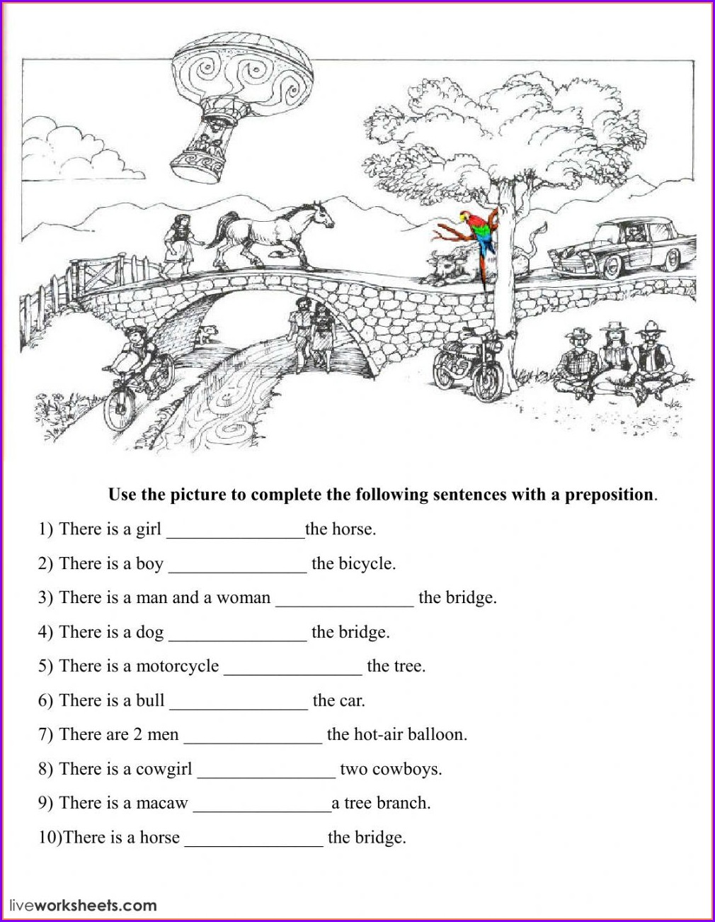 Prepositions Grade 4 Worksheet Pdf