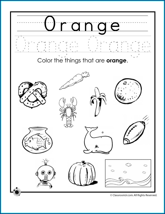 Preschool Colors Worksheet For Kindergarten