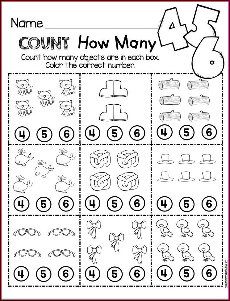 Preschool Counting Kindergarten Math Worksheets