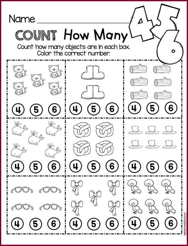 Preschool Counting Kindergarten Math Worksheets