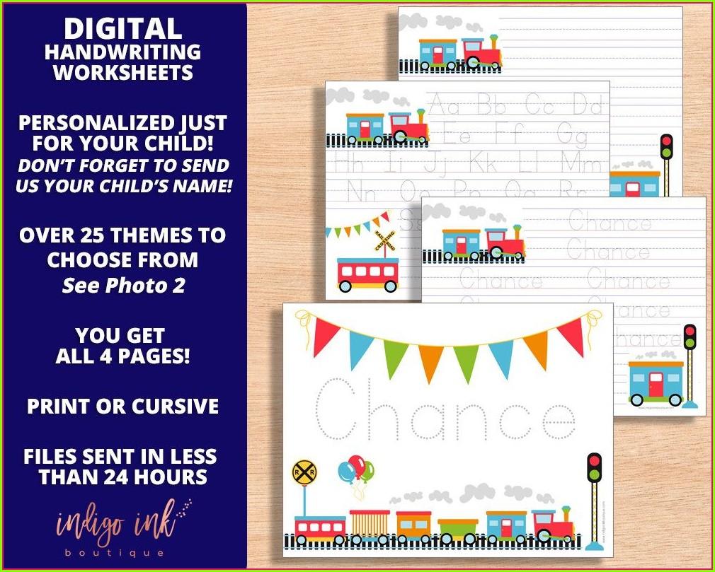 Preschool Handwriting Practice Name