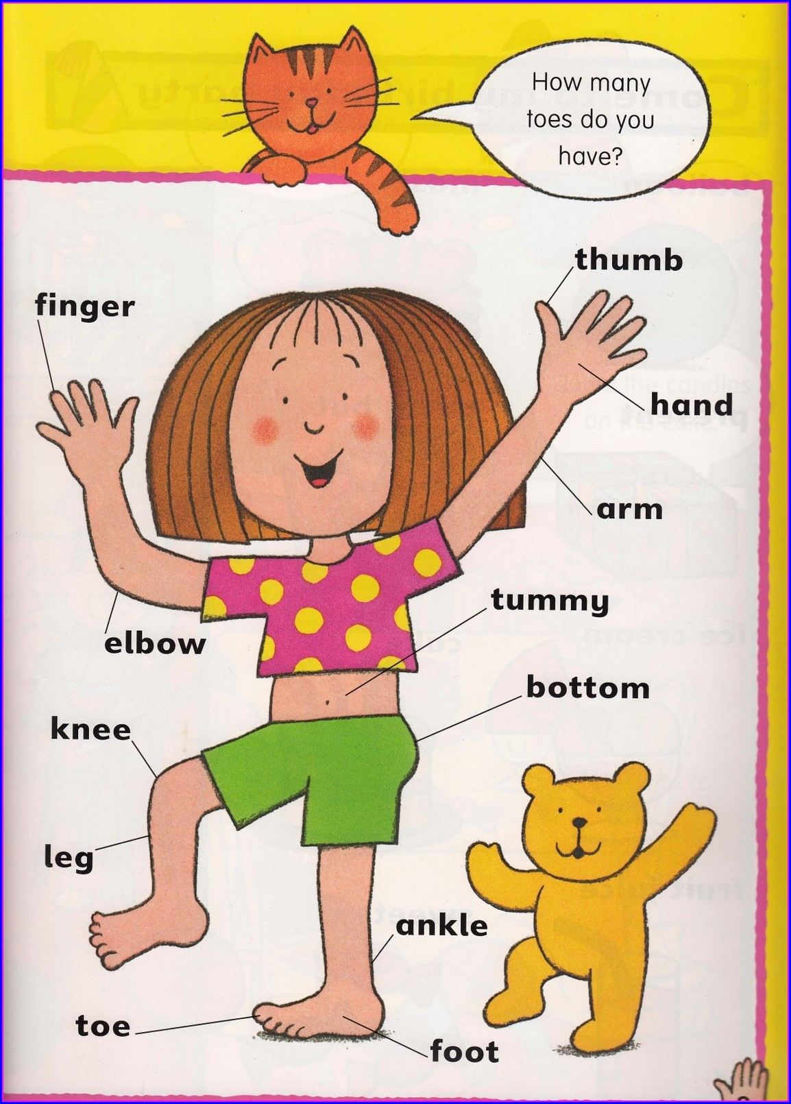 Preschool My Body Parts Worksheet