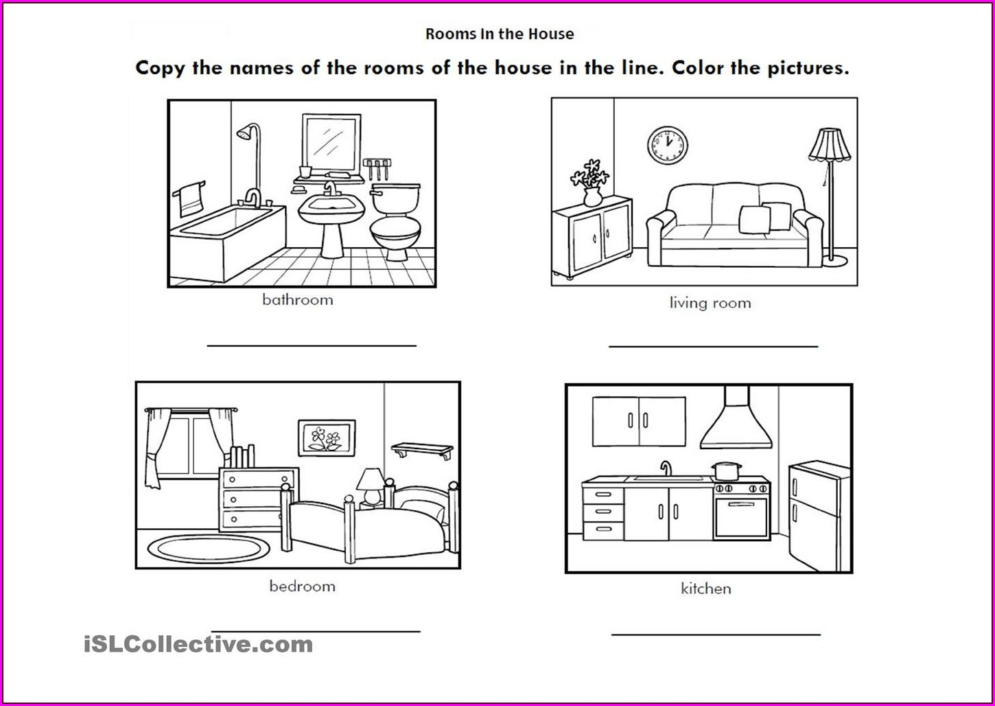 Preschool Parts Of The House Worksheet For Kindergarten