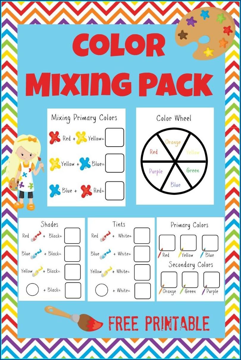Preschool Primary Colors Worksheet For Kindergarten