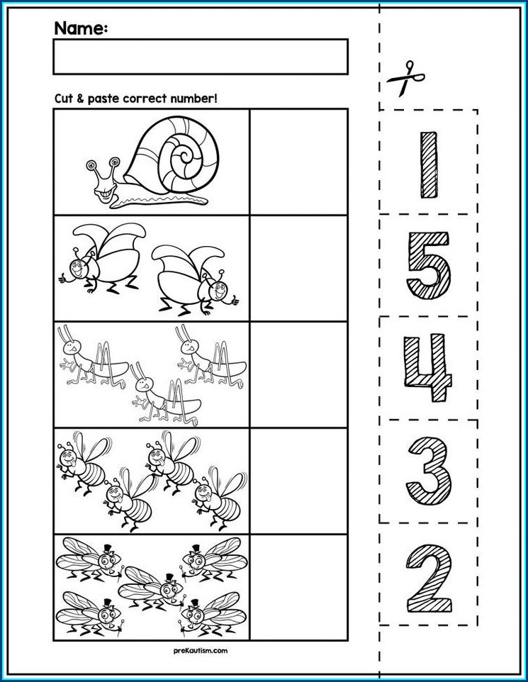 Preschool Printable Number Recognition Worksheets