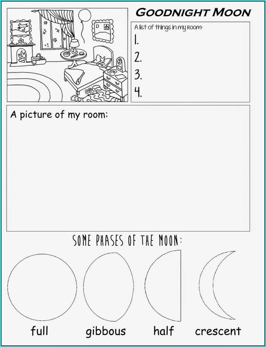 Preschool Worksheet For Kindergarten Reading