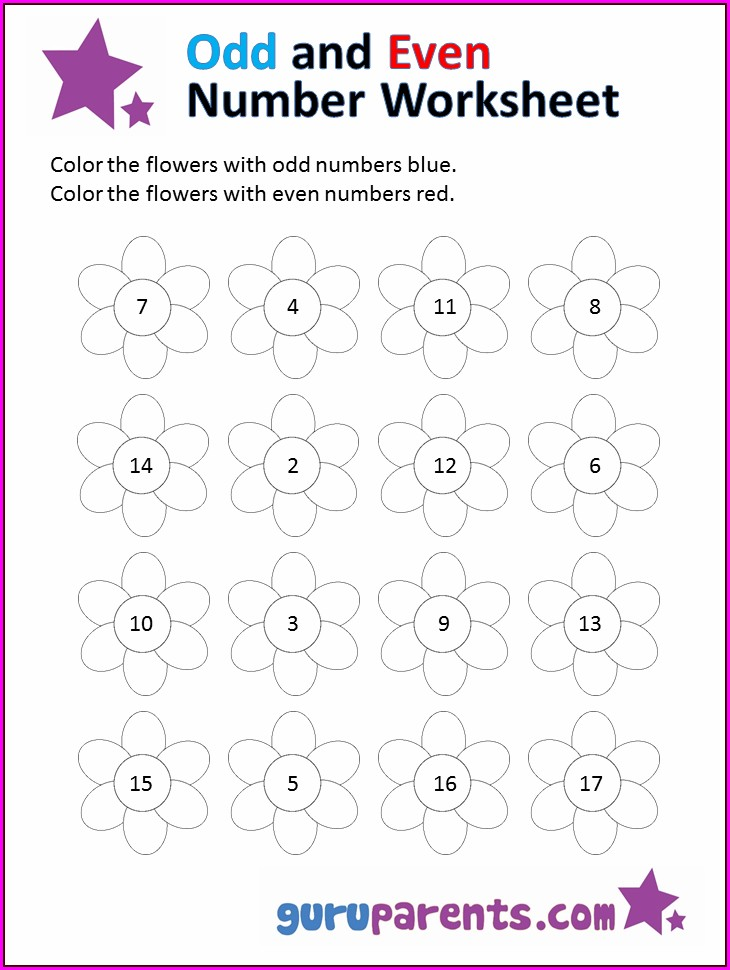 Preschool Worksheet Numbers 1 20