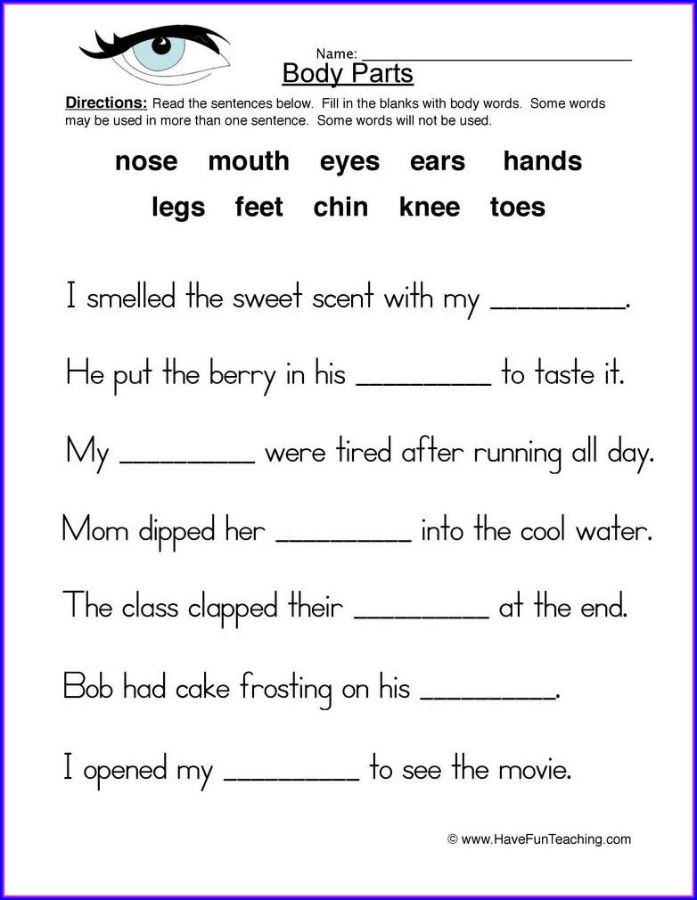 Printable 5th Grade Health Worksheets