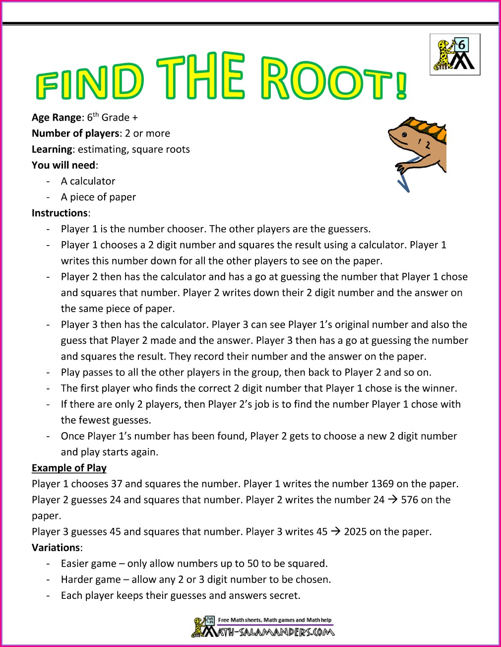 Printable 6th Grade English Worksheets
