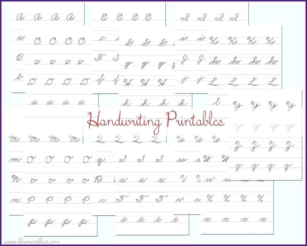 Printable Blank Cursive Writing Worksheets