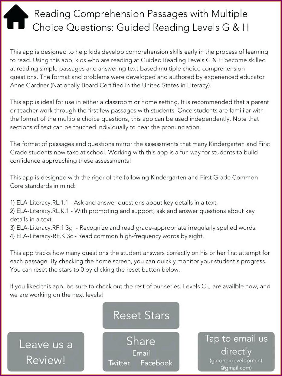 Printable Comprehension Worksheets For Grade 7