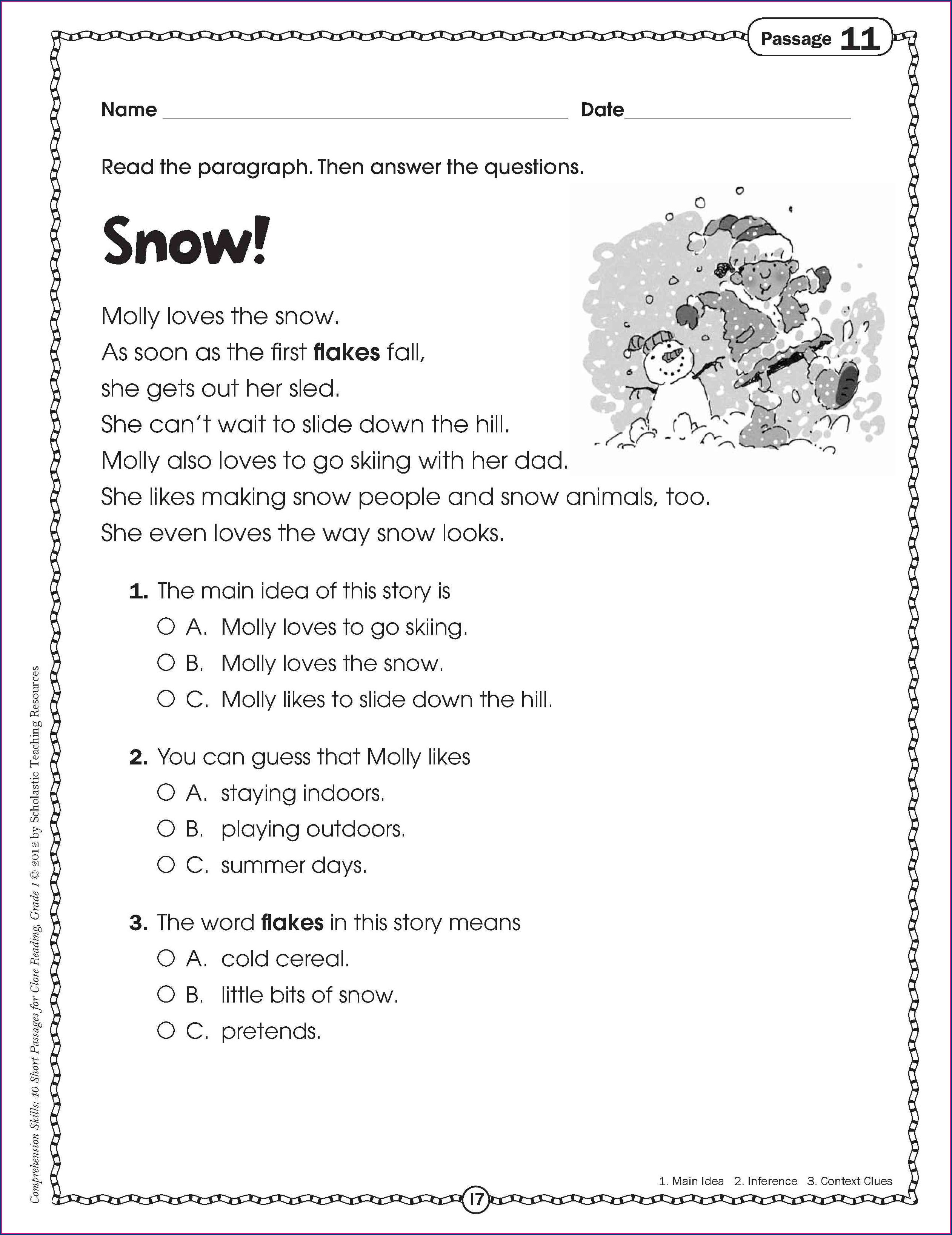 Printable Context Clues Worksheets 3rd Grade