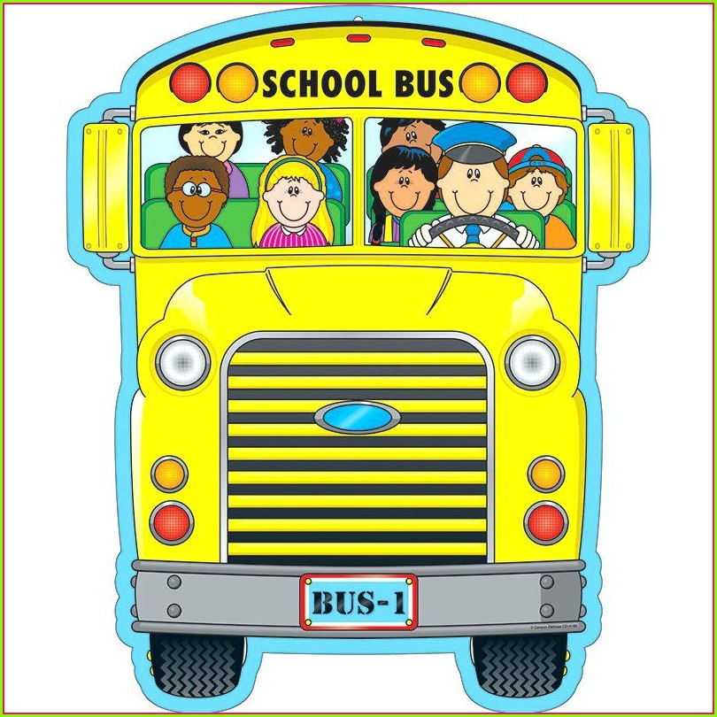 Printable Cut Out School Bus Template