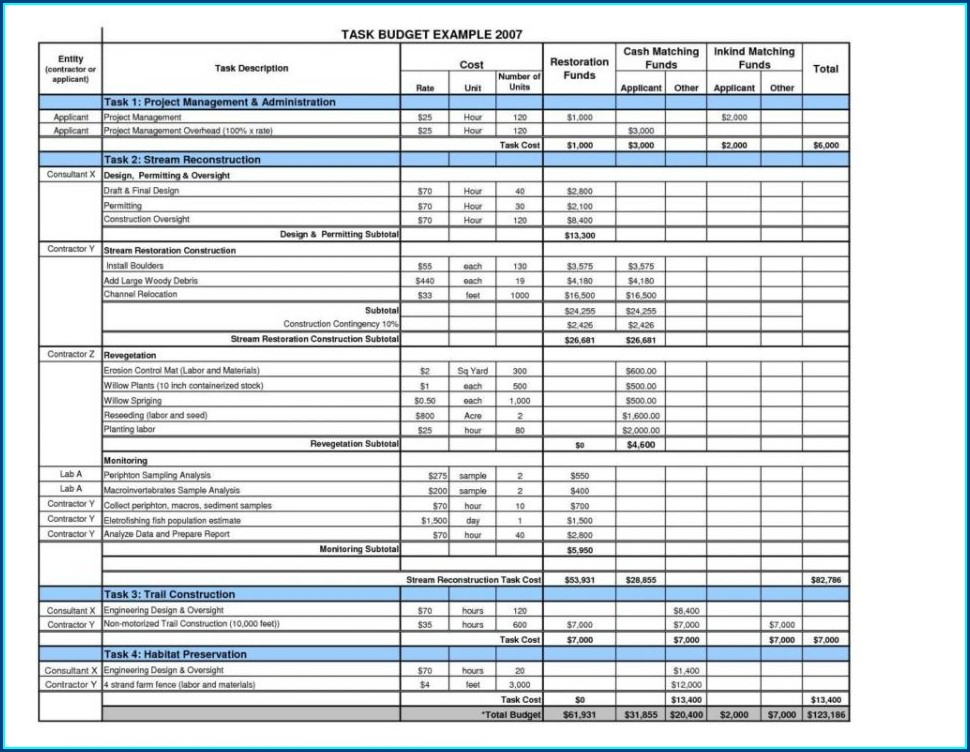 Printable Expense Tracking Worksheet
