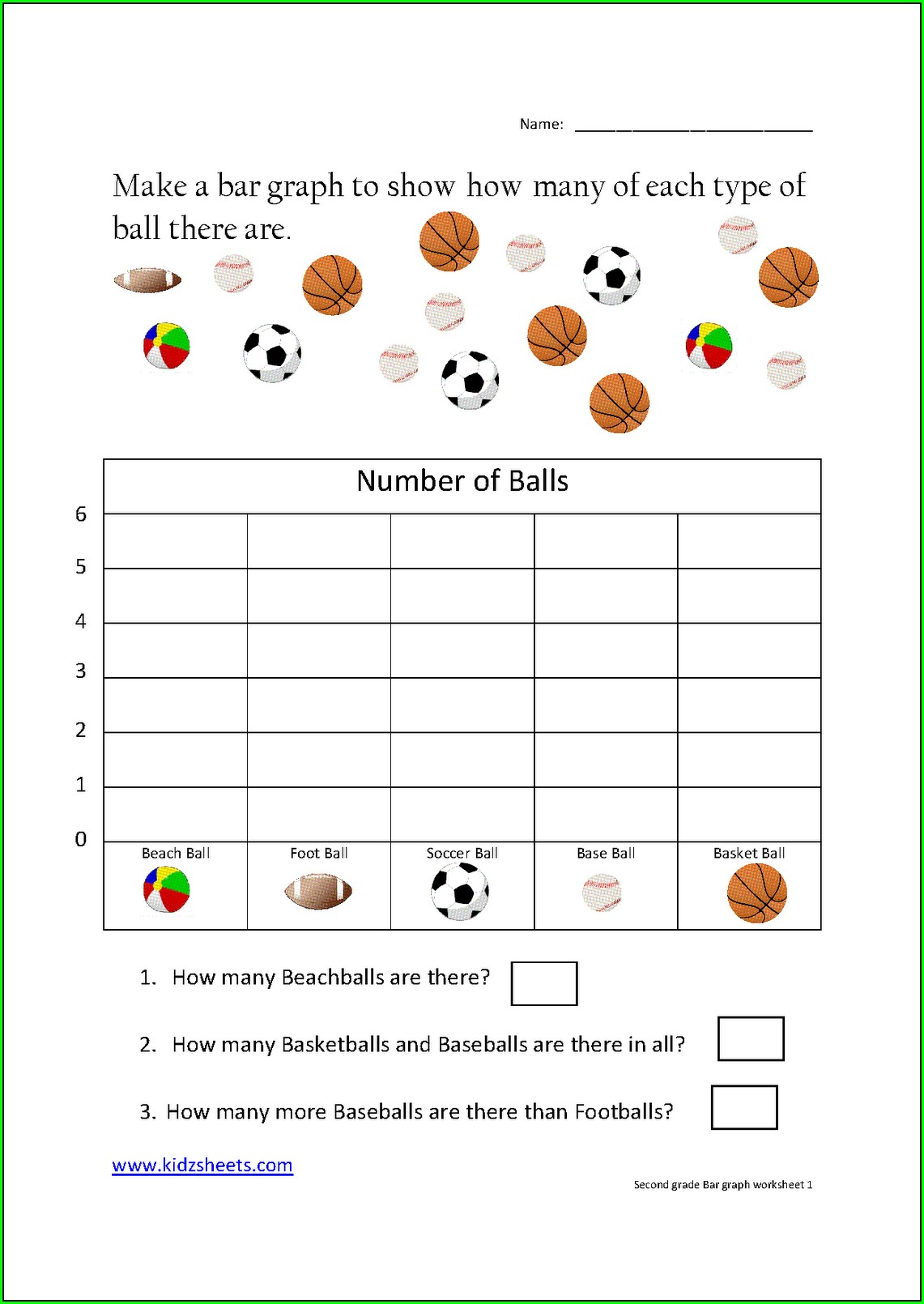 Printable First Grade Graphing Worksheets Pdf