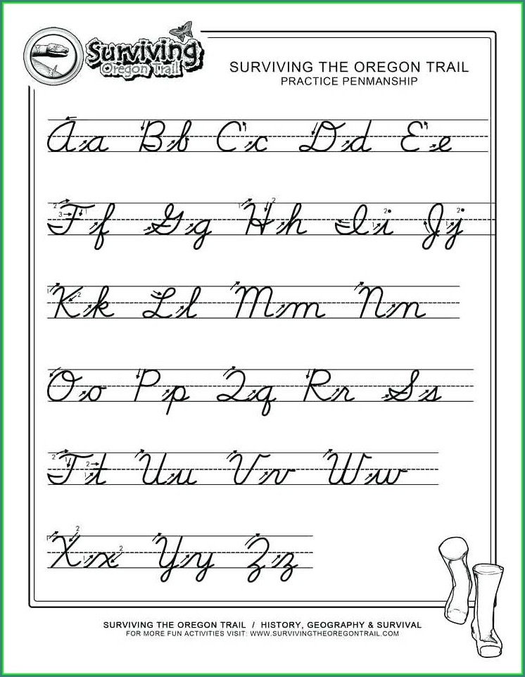 Printable Handwriting Without Tears Cursive Worksheets
