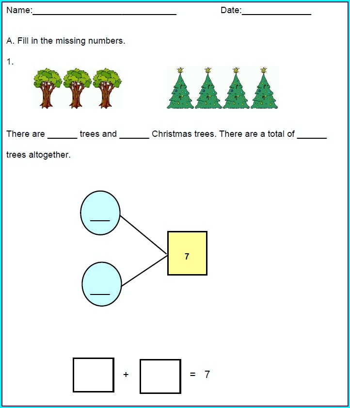 Printable Number Bonds Worksheets 1st Grade