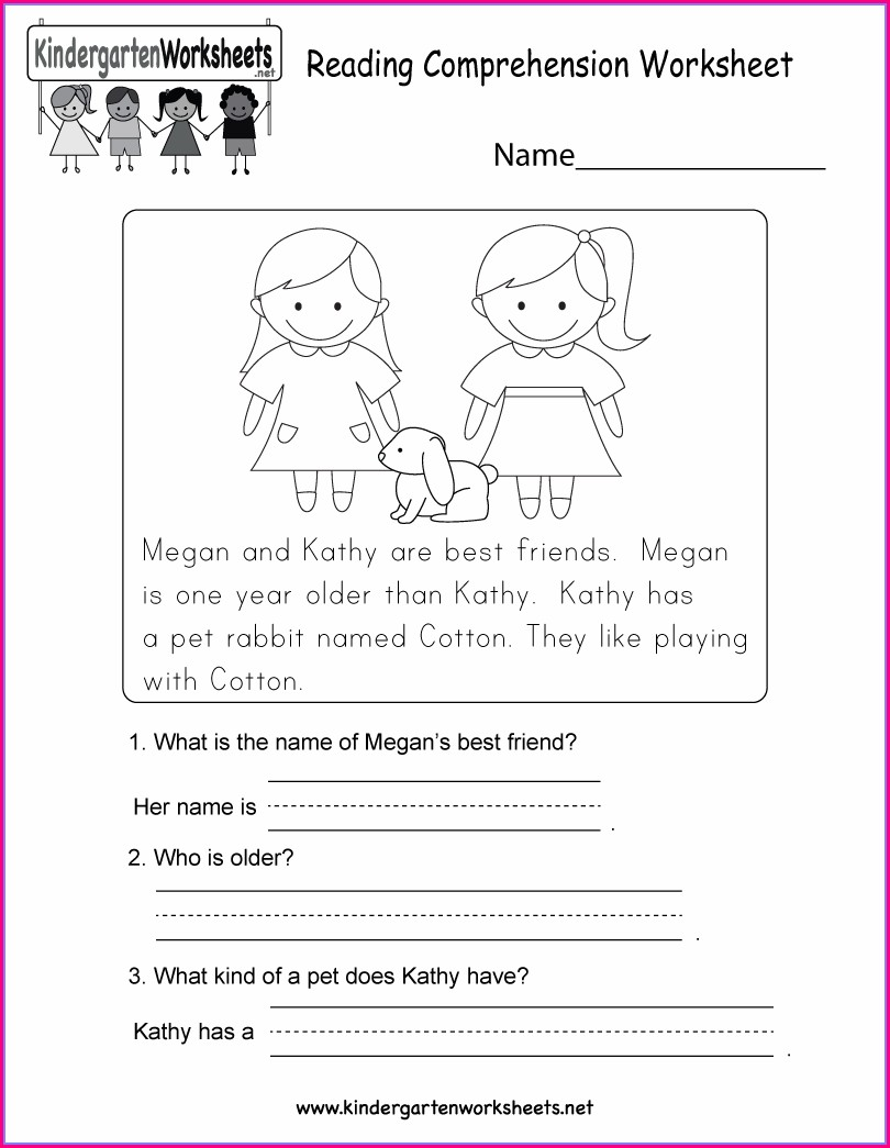 Printable Reading Comprehension Worksheets For Kindergarten
