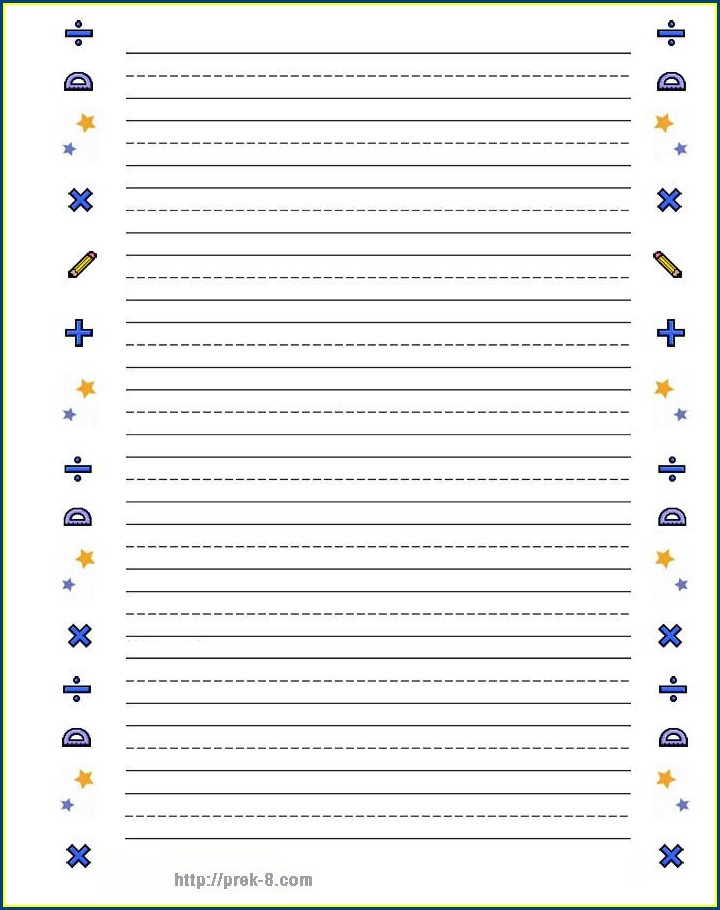 Printable School Lined Paper