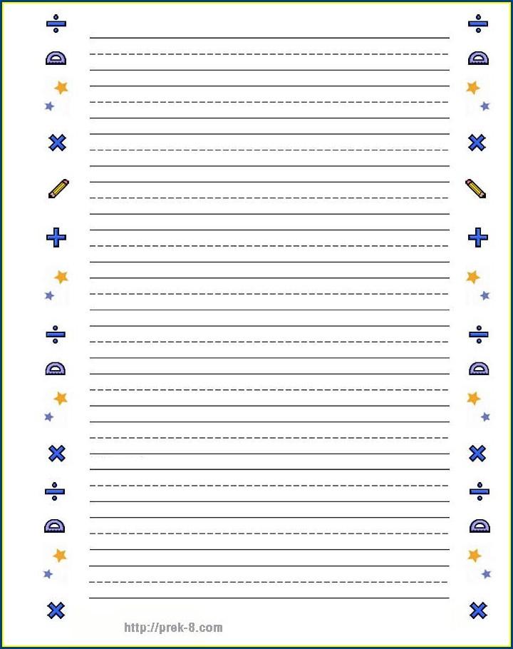 Printable School Lined Paper