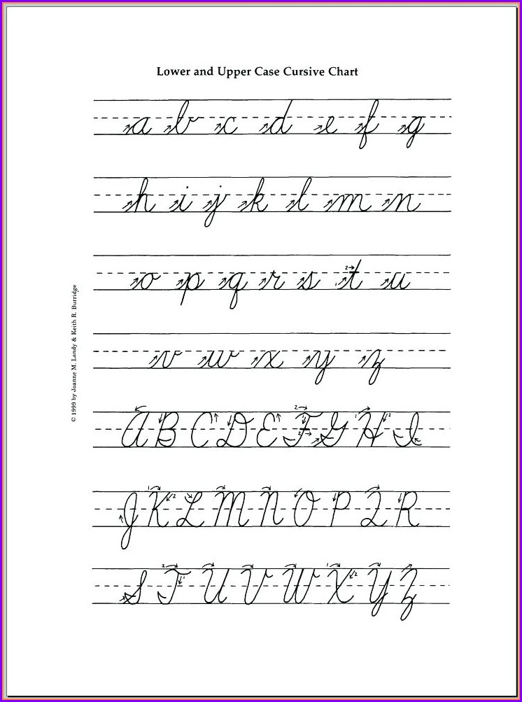 Printable Uppercase Cursive Letters