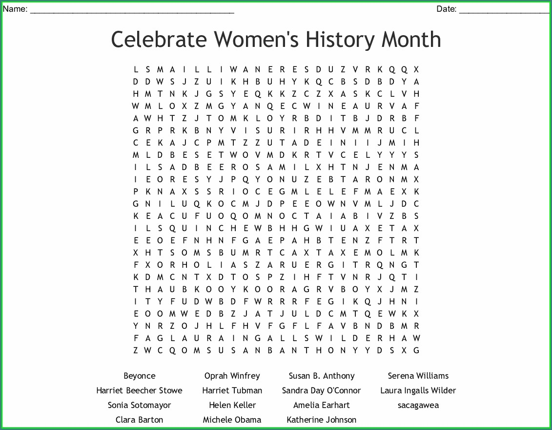 Printable Us History Word Search