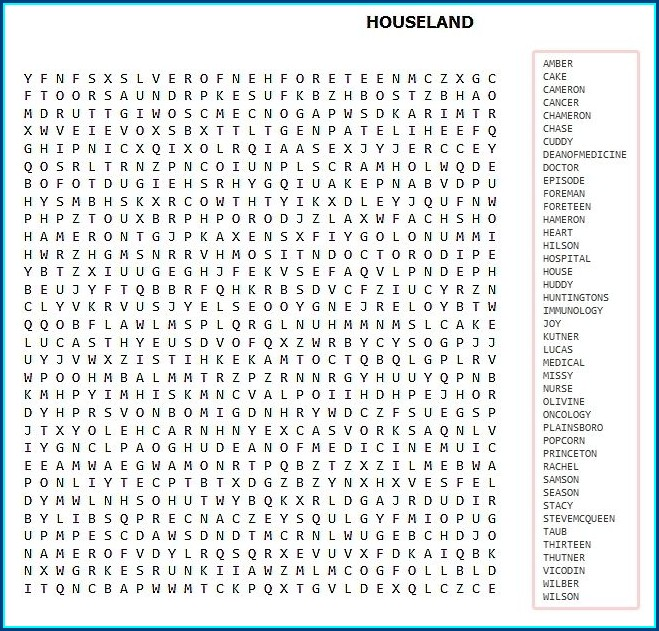Printable Word Search Hard Pdf