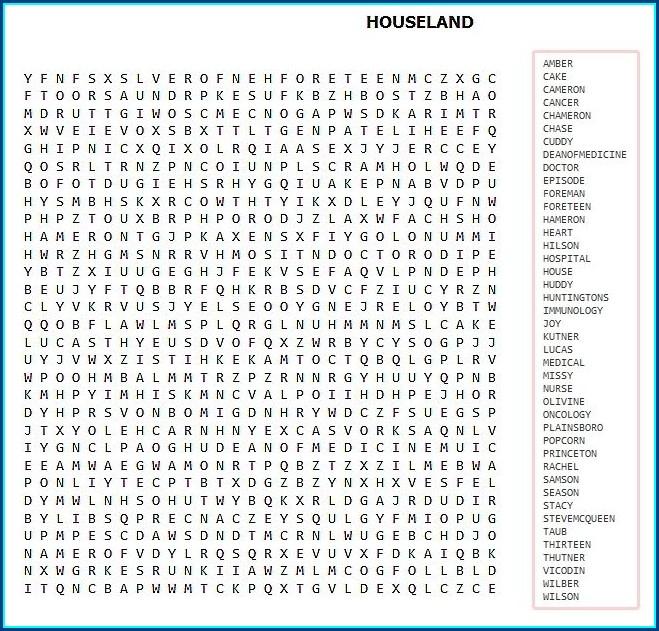 Printable Word Search Hard Pdf