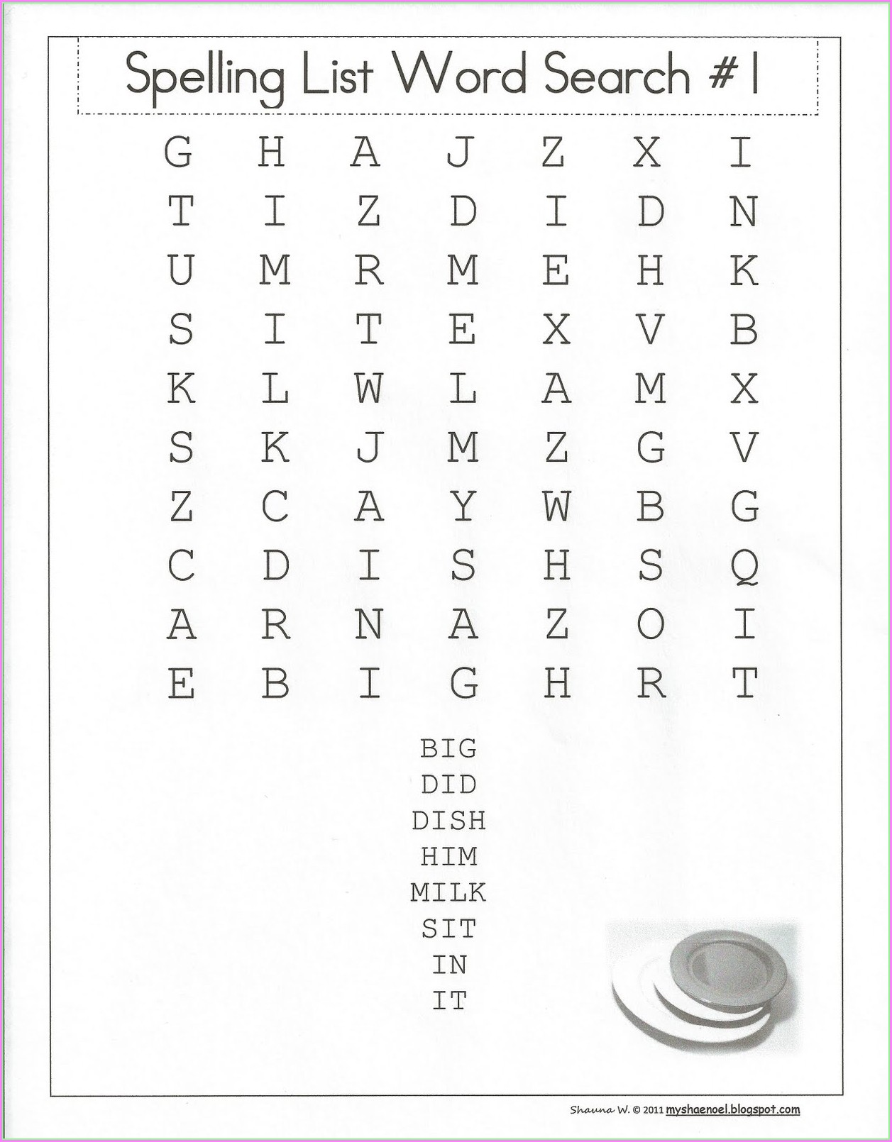 Printable Word Search Worksheets For Grade 1
