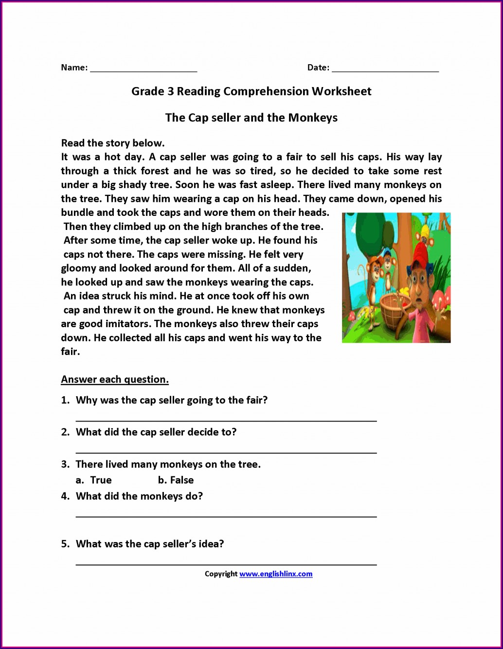 Printable Worksheets For 3rd Grade Science