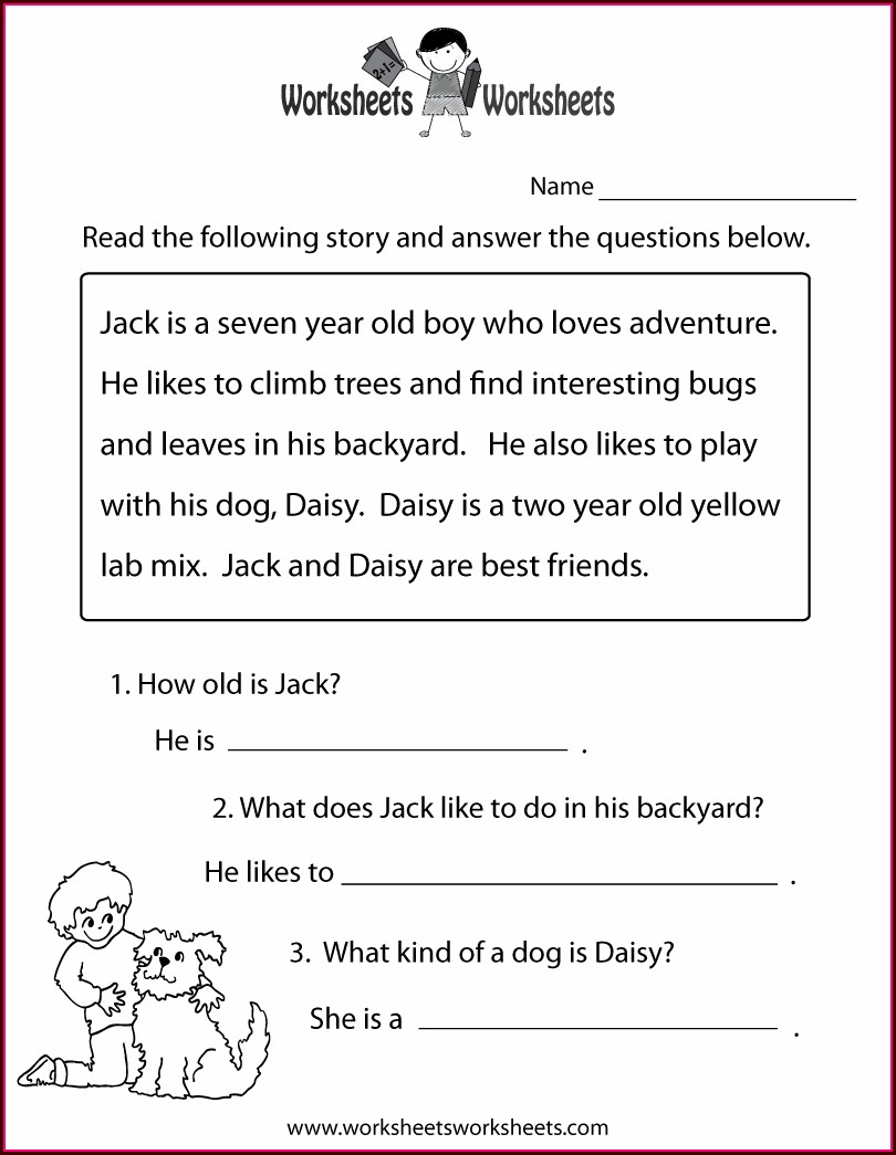Printable Worksheets For 5th Grade Reading
