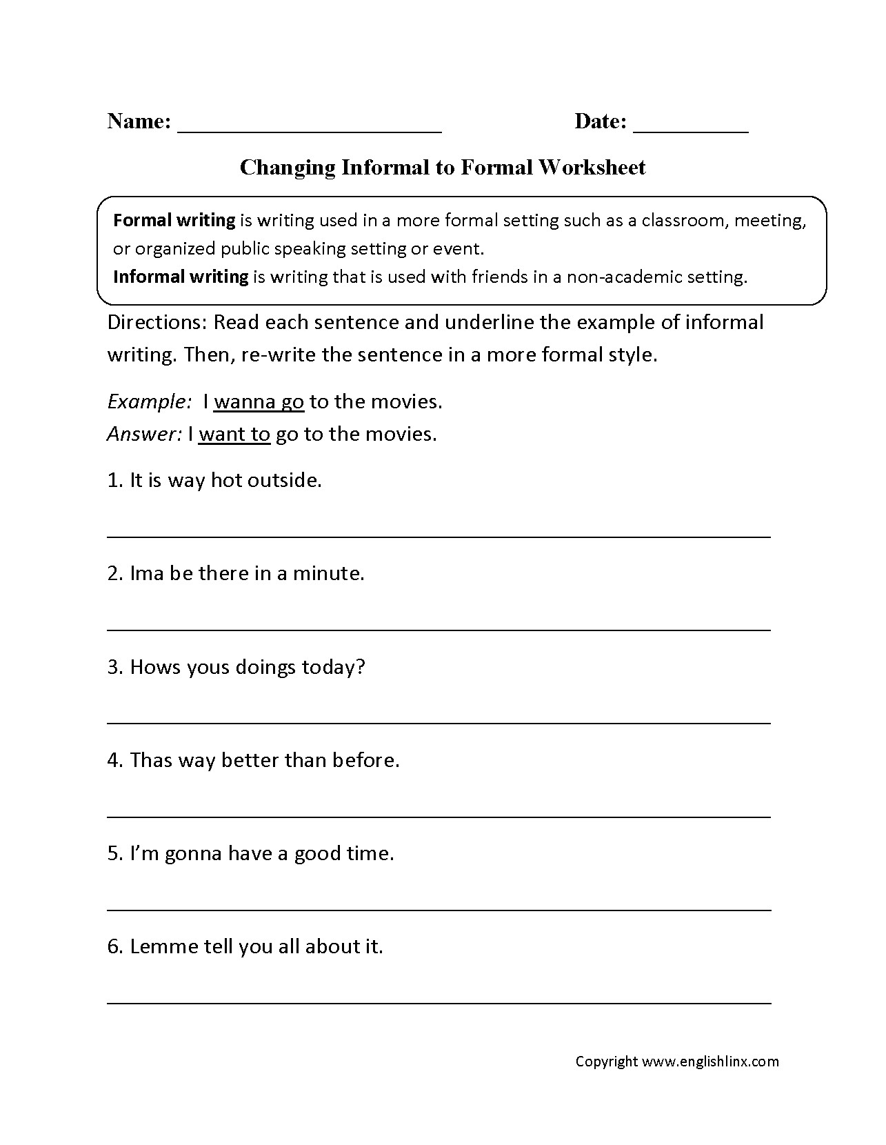 Printable Worksheets For Grade 5 English Grammar