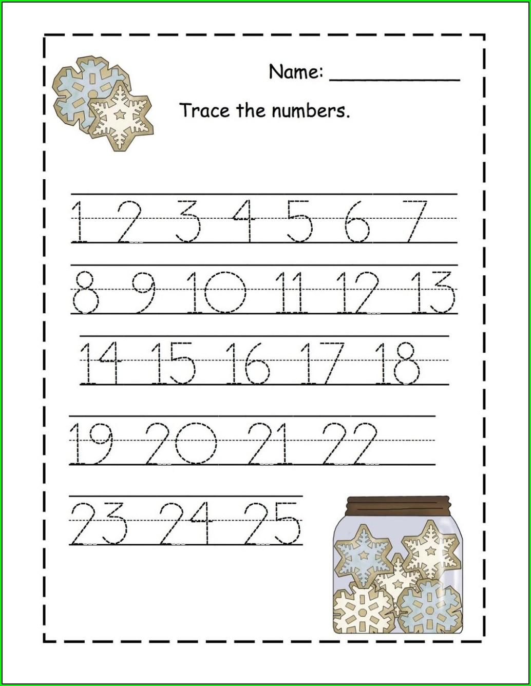 Printable Writing Worksheet For Preschool