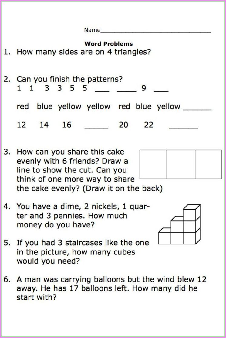 Problem Solving Worksheets Second Grade Math
