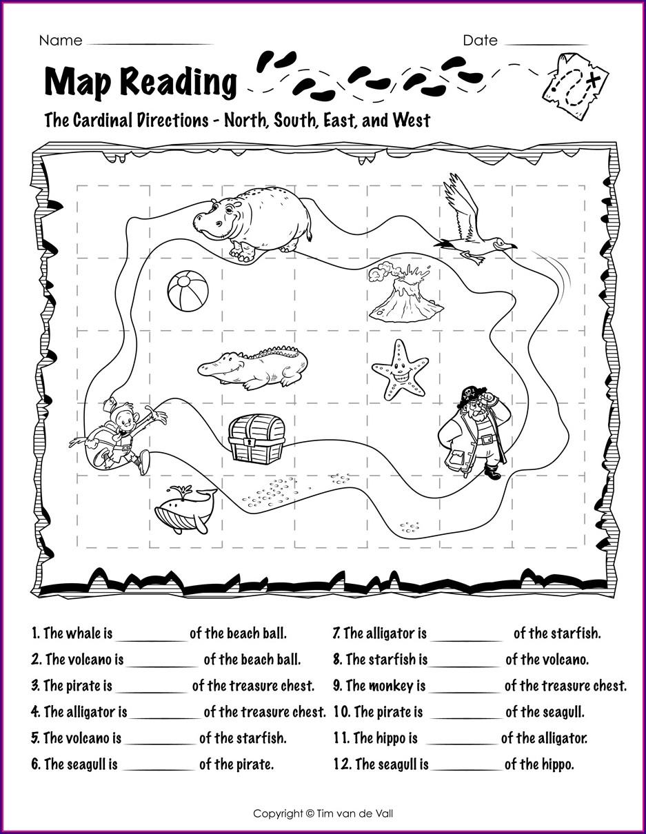 Reading A Map Worksheet Pdf