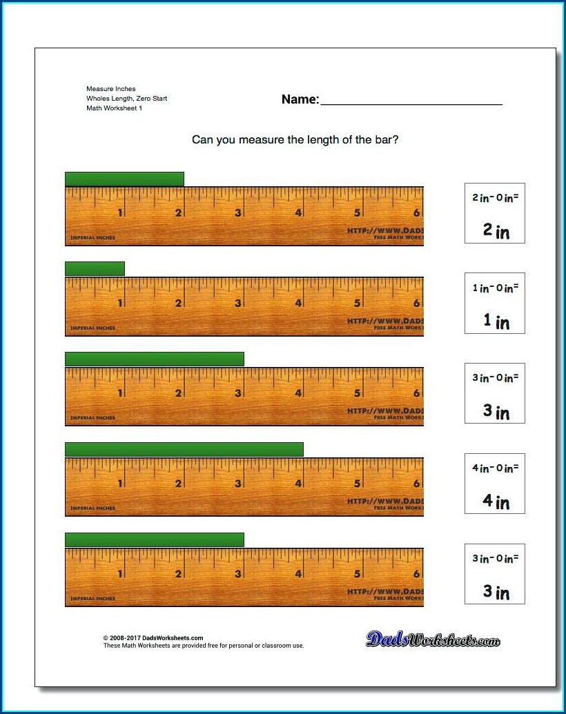 Reading A Metric Ruler Worksheet