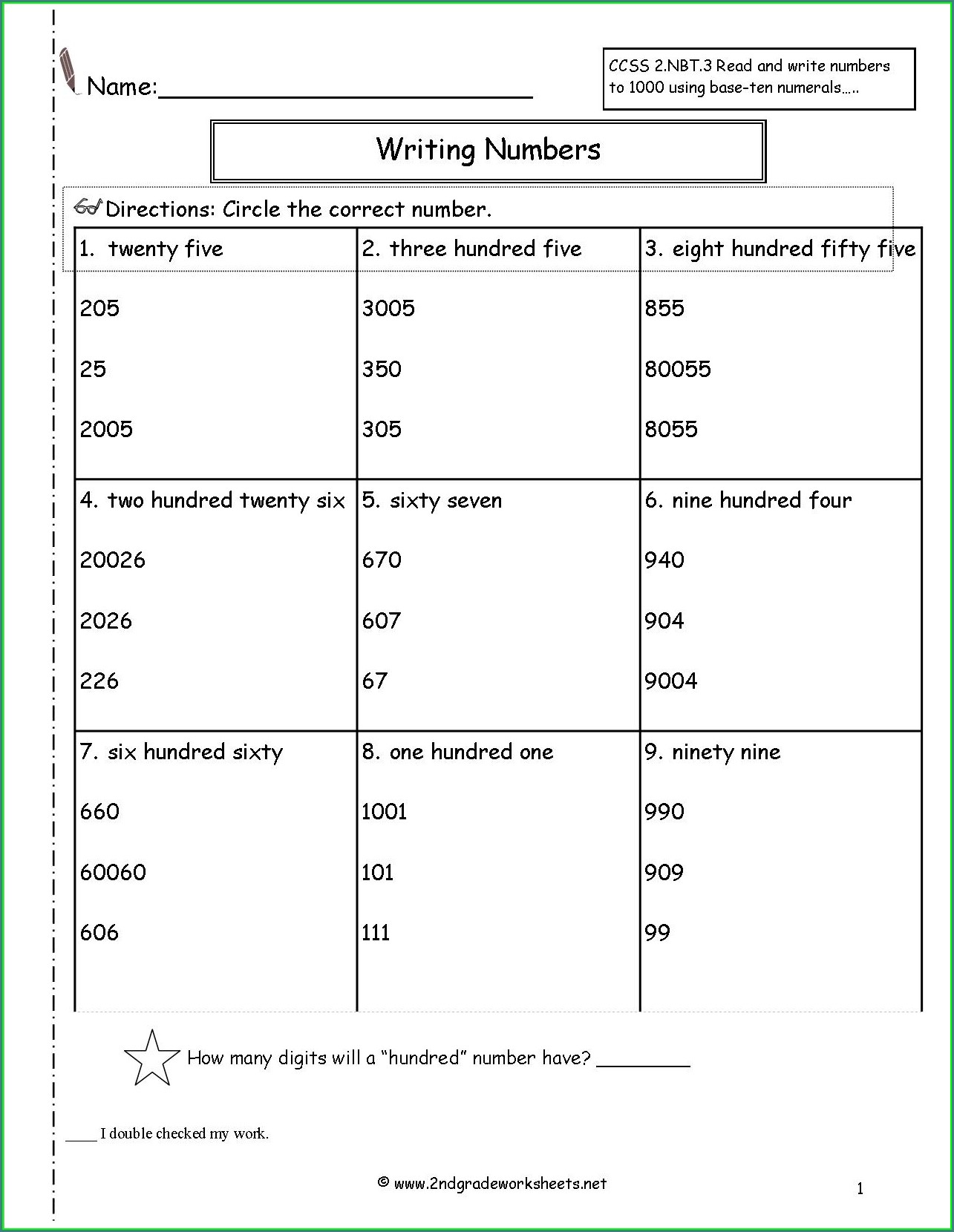 Reading And Writing Numbers Worksheet Grade 4