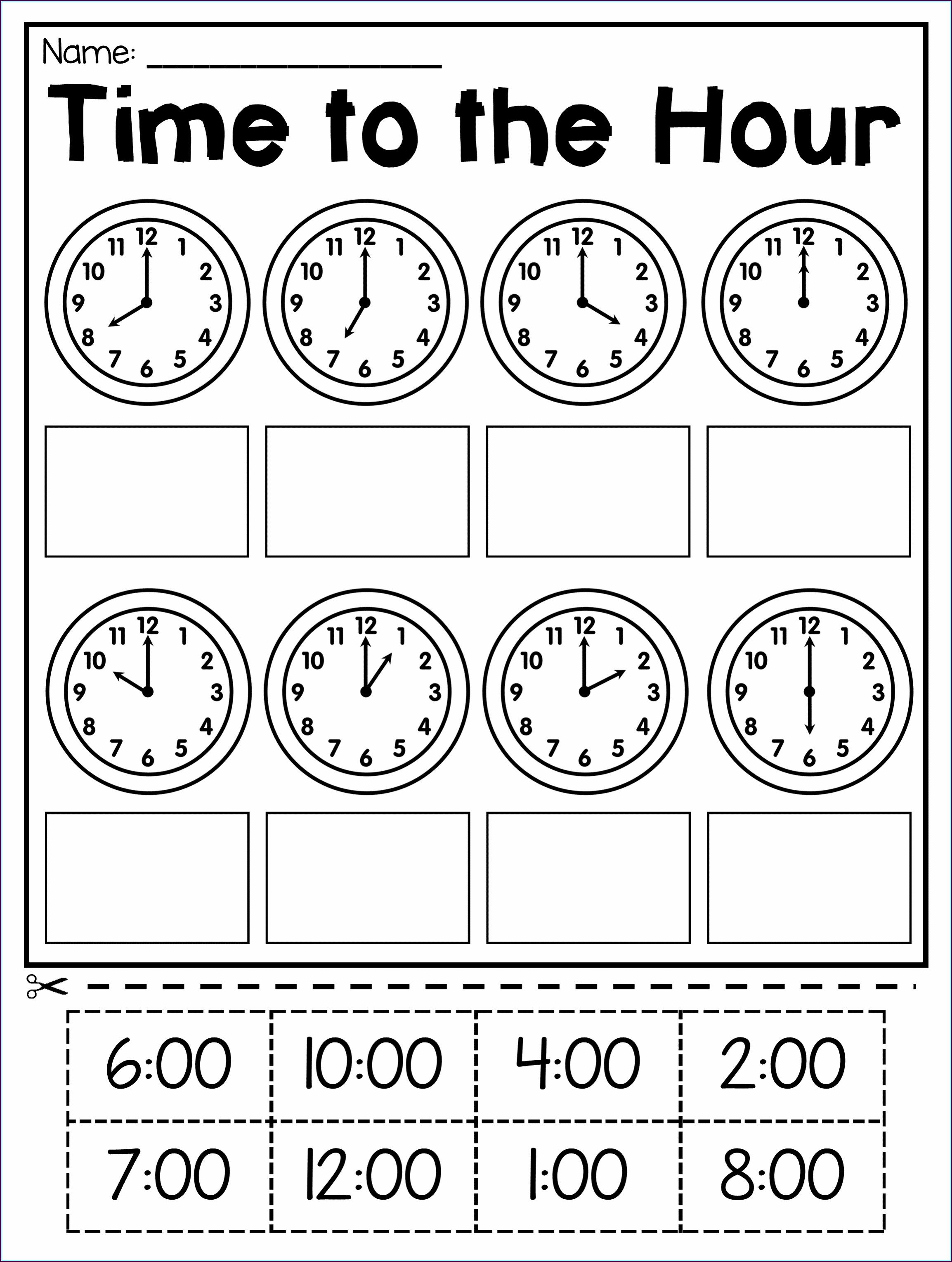 Reading Clock Worksheet Grade 2