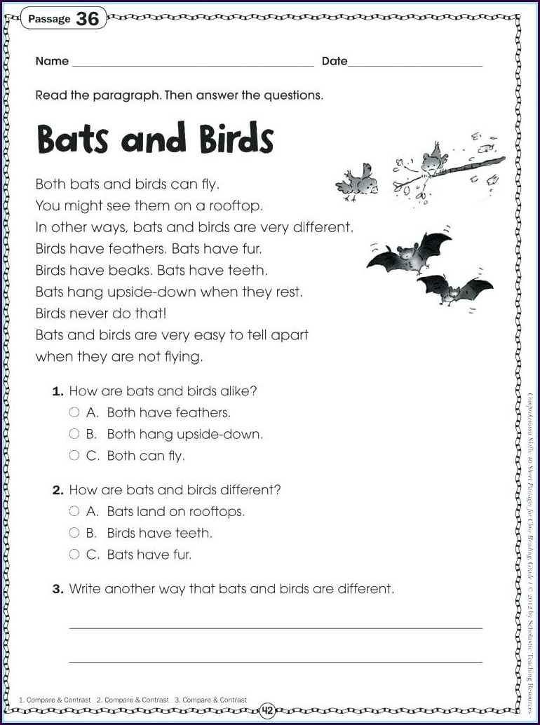 Reading Comprehension Filipino Grade 2 Worksheet